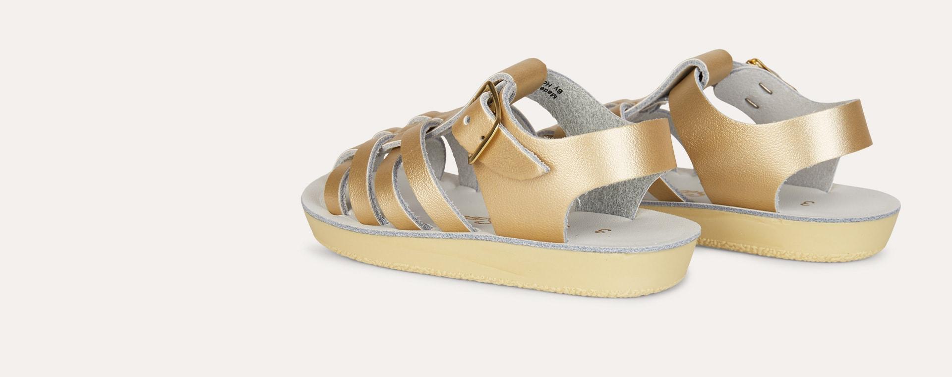 Gold Salt-Water Sandals Sailor Sandal