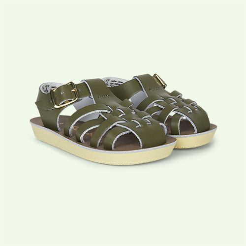 Olive Salt-Water Sandals Sailor Sandal