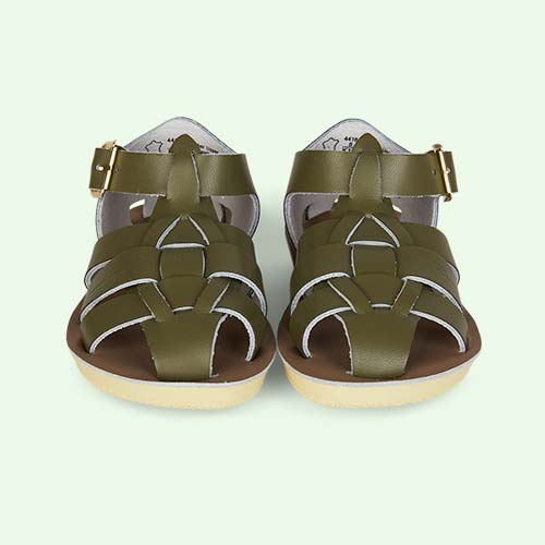 Olive Salt-Water Sandals Shark Sandal