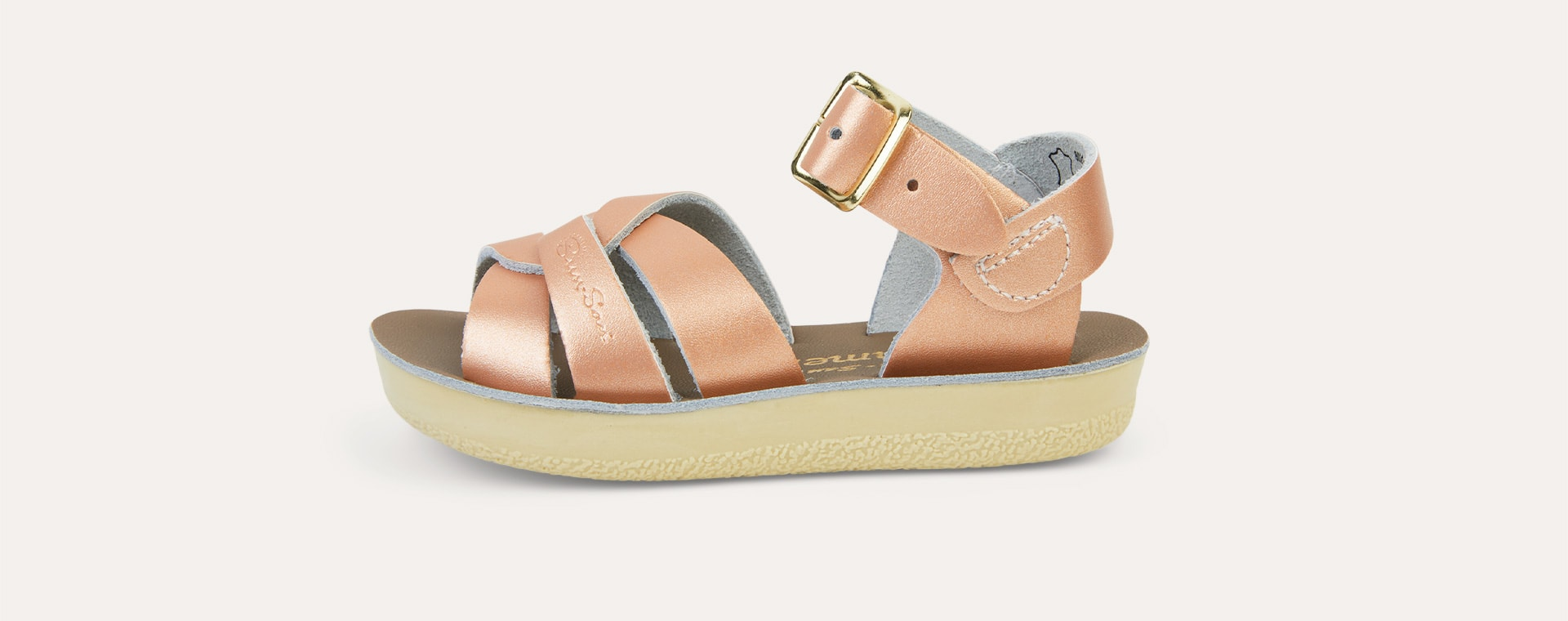 Rose Gold Salt-Water Sandals Swimmer Sandal