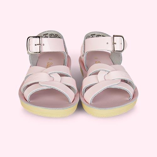 Shiny Pink Salt-Water Sandals Swimmer Sandal