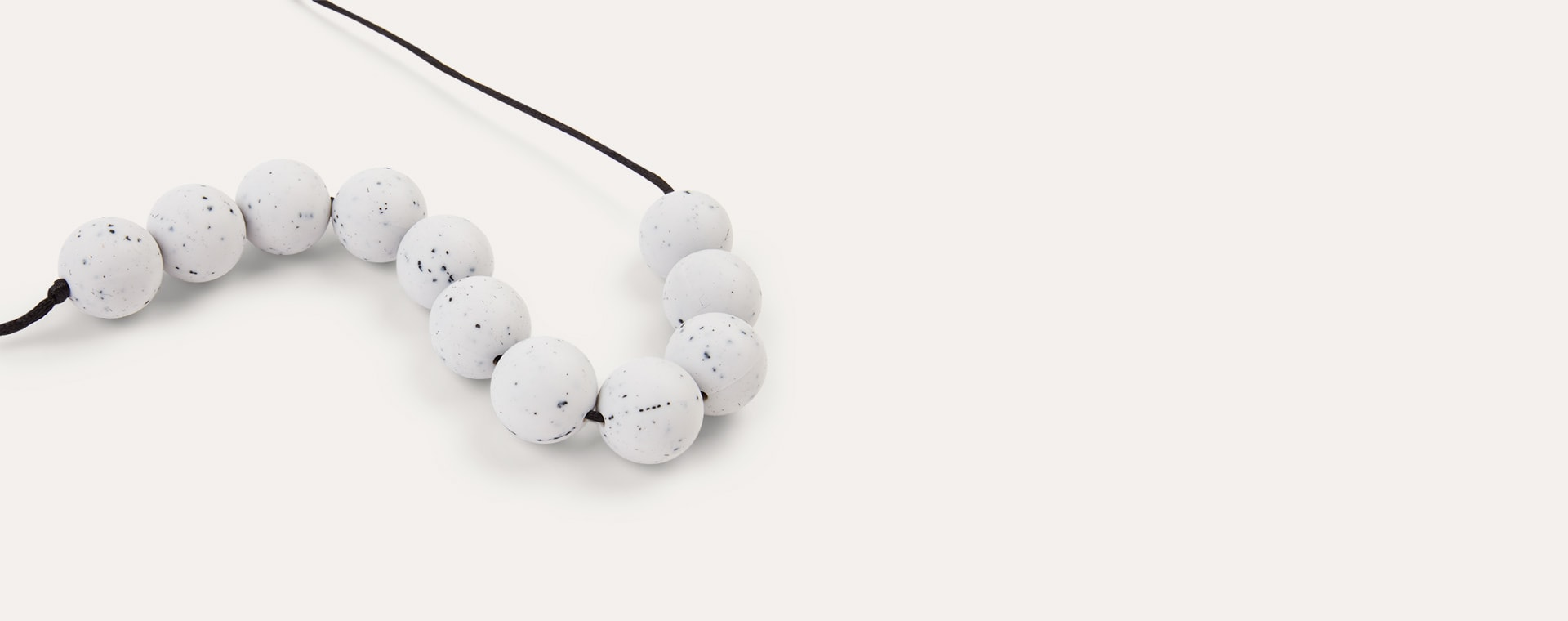 Granite Lara + Ollie Round Granite Teething Necklace