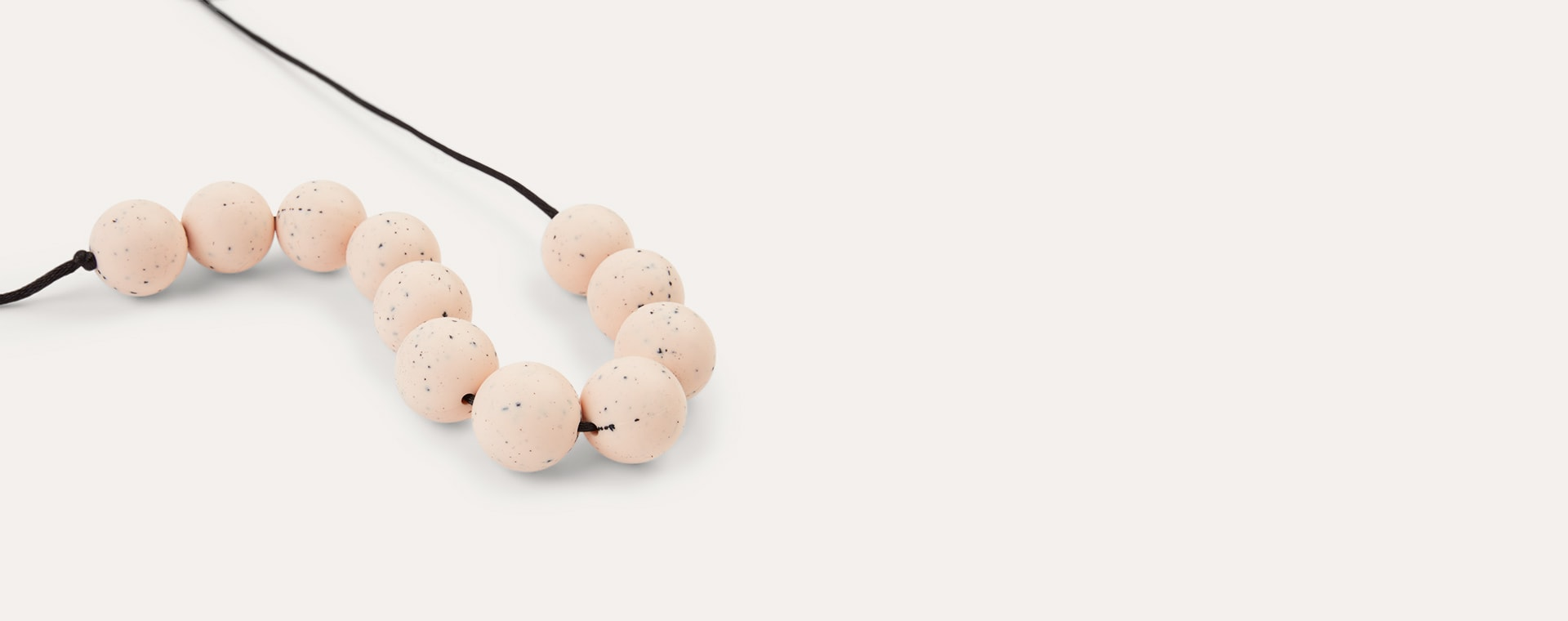 Blush Lara + Ollie Round Granite Teething Necklace