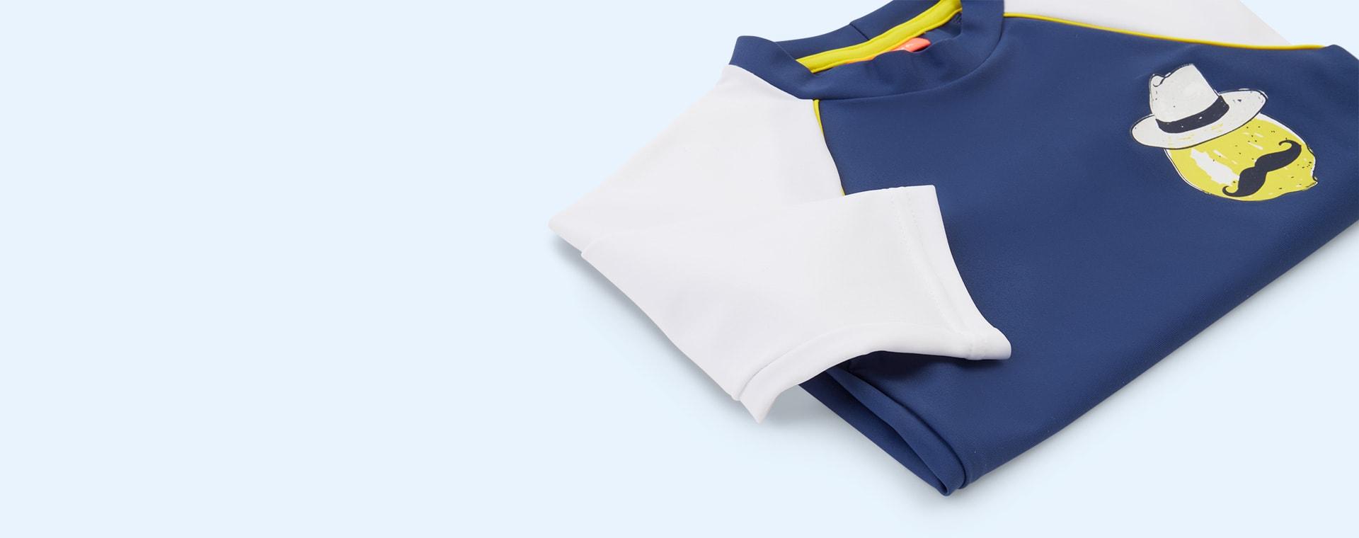 Blue Sunuva Boys Sicilian Lemon Rash Vest