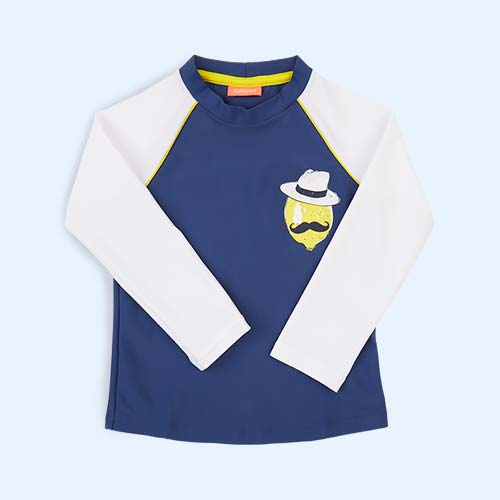 Blue Sunuva Boys Sicilian Lemon Rash Vest