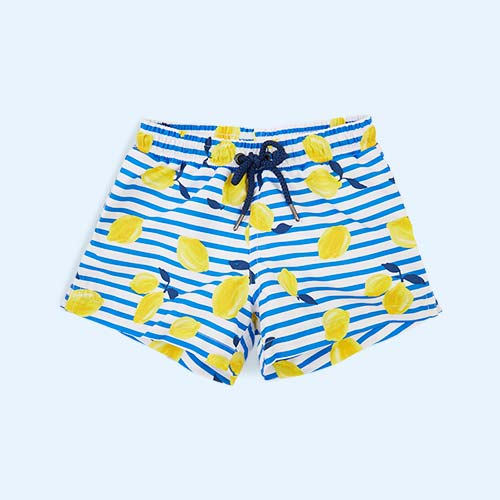 Yellow Sunuva Boys Sicilian Lemon Swim Short