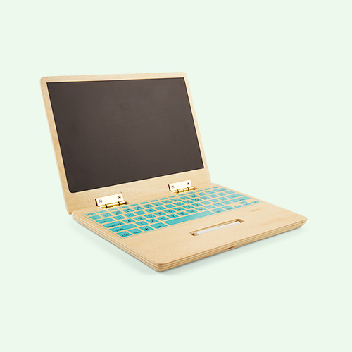 Neutral Bloomingville Wooden Blackboard Laptop