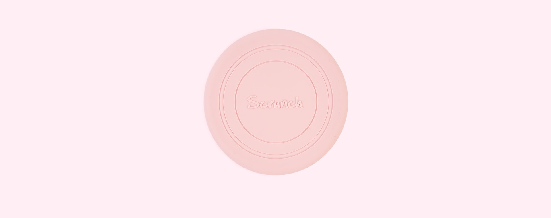 Blush Pink Scrunch Scrunch Collapsible Frisbee