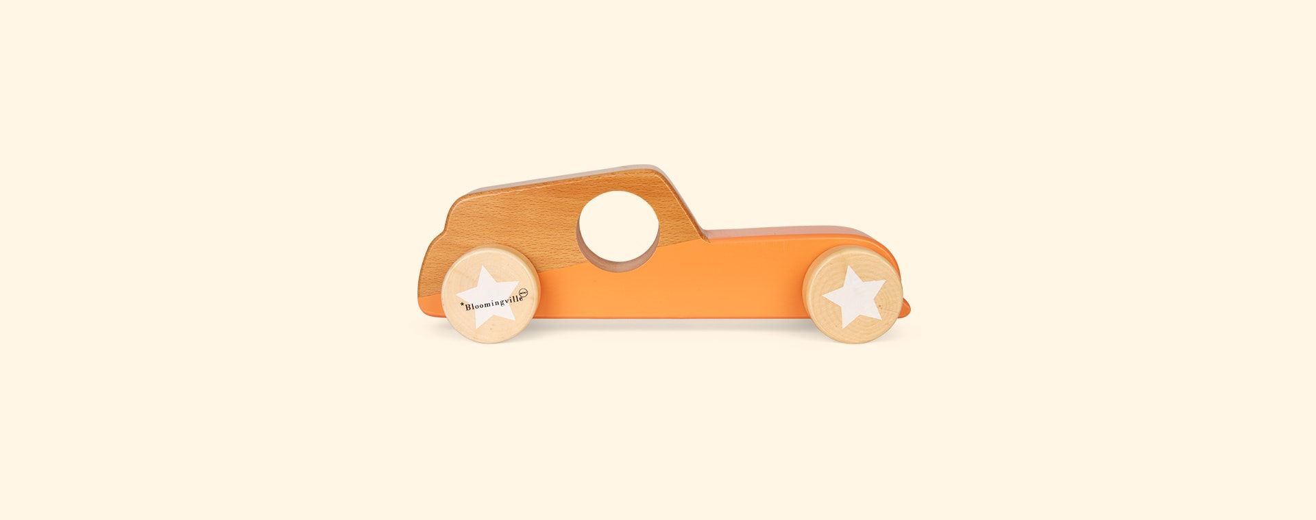 Orange Bloomingville Wooden Car