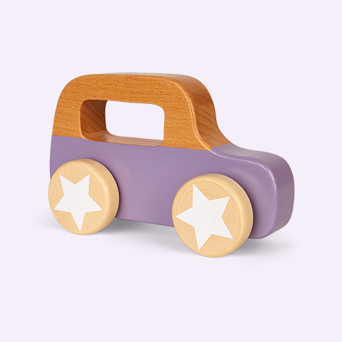 Purple Bloomingville Wooden Car