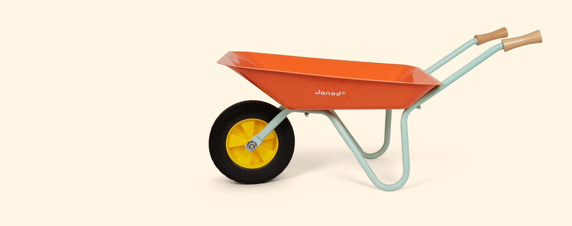 Orange Janod Metal Wheelbarrow