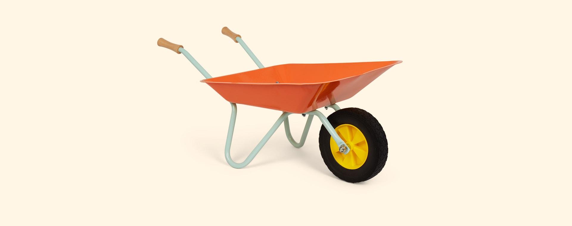 Orange Janod Metal Wheelbarrow