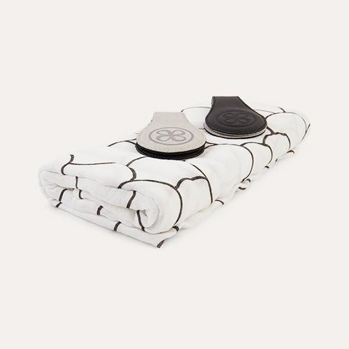 White Cloby Swaddle Blanket And Clip Set