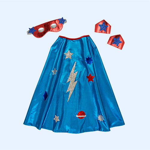 Blue Meri Meri Superhero Cape Dress Up