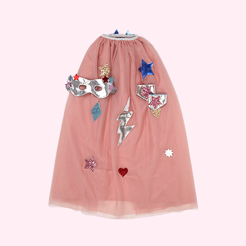 Pink Meri Meri Superhero Cape Dress Up