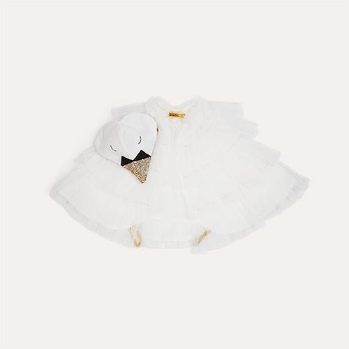 White Meri Meri Swan Cape Dress Up