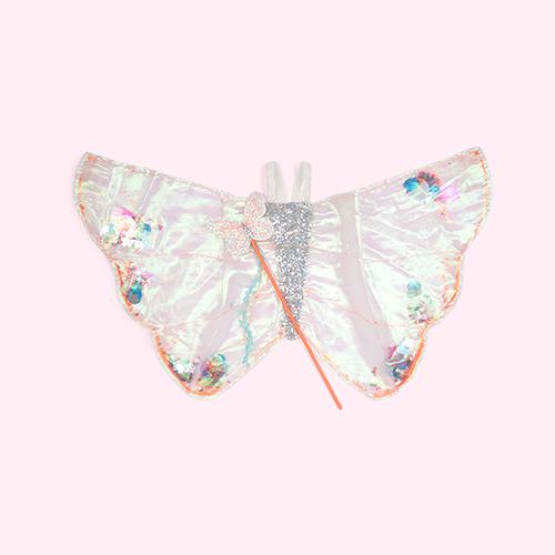 Silver Meri Meri Sequin Butterfly Wings Dress Up