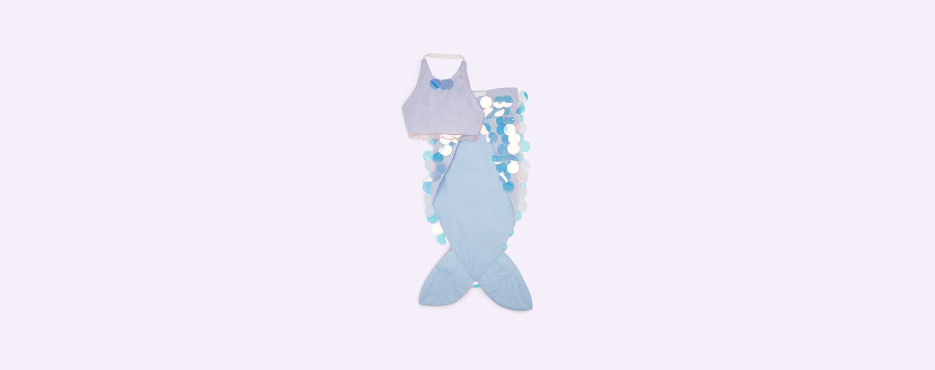 Blue Meri Meri Mermaid Wrap Dress up