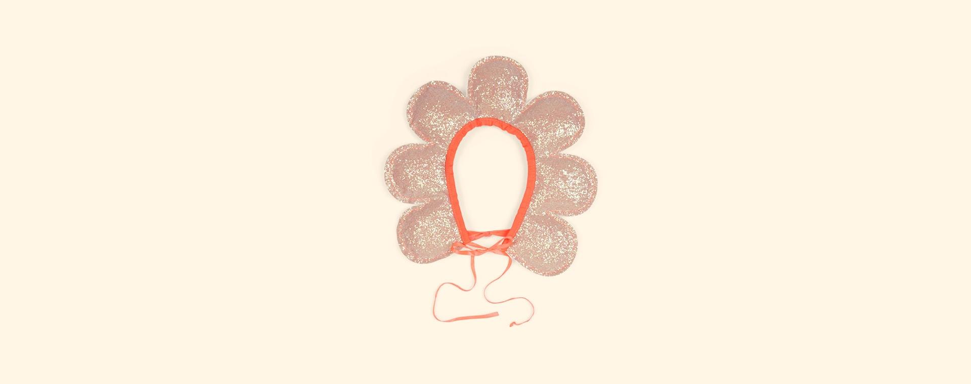 Coral Meri Meri Flower Head Dress