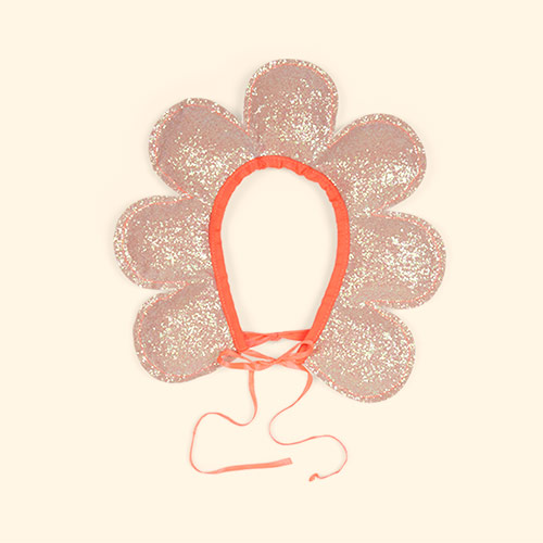 Coral Meri Meri Flower Head Dress