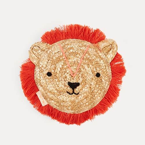 Neutral Meri Meri Woven Lion Bag