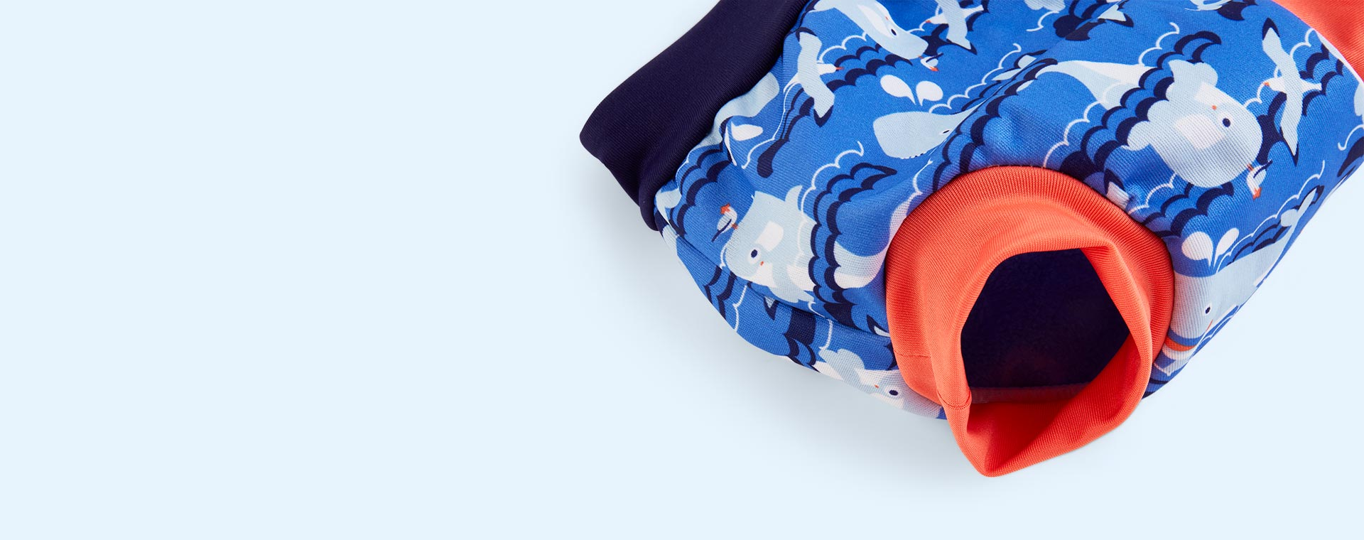 Whale Close Swim Nappy With Drawstring