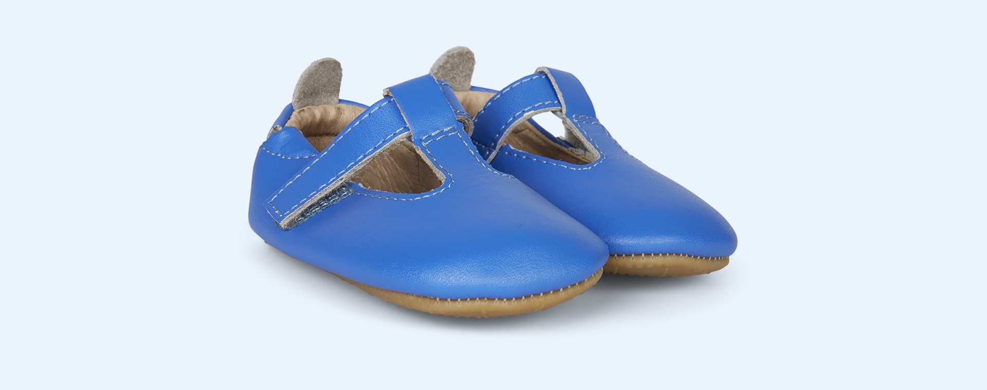 NeonBlue old soles Omhe- Bub Soft Sole Shoe