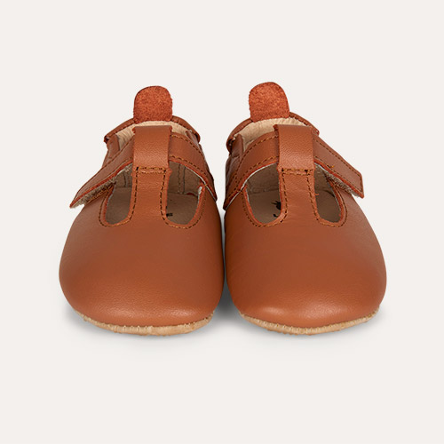 Tan old soles Omhe- Bub Soft Sole Shoe