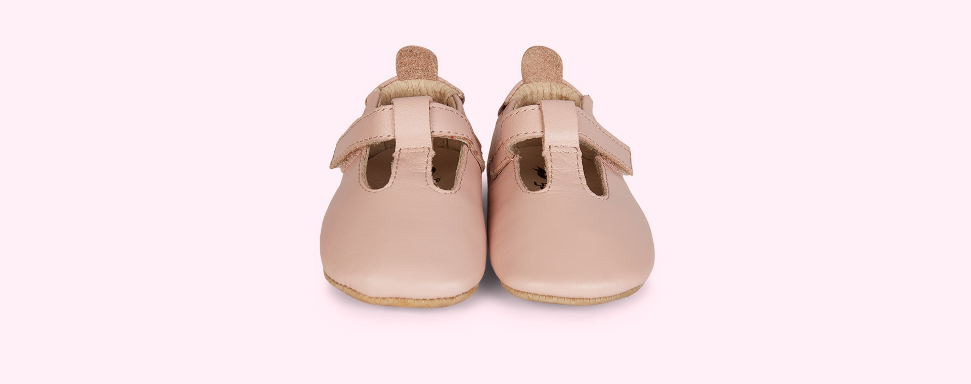 Powder Pink old soles Omhe- Bub Soft Sole Shoe