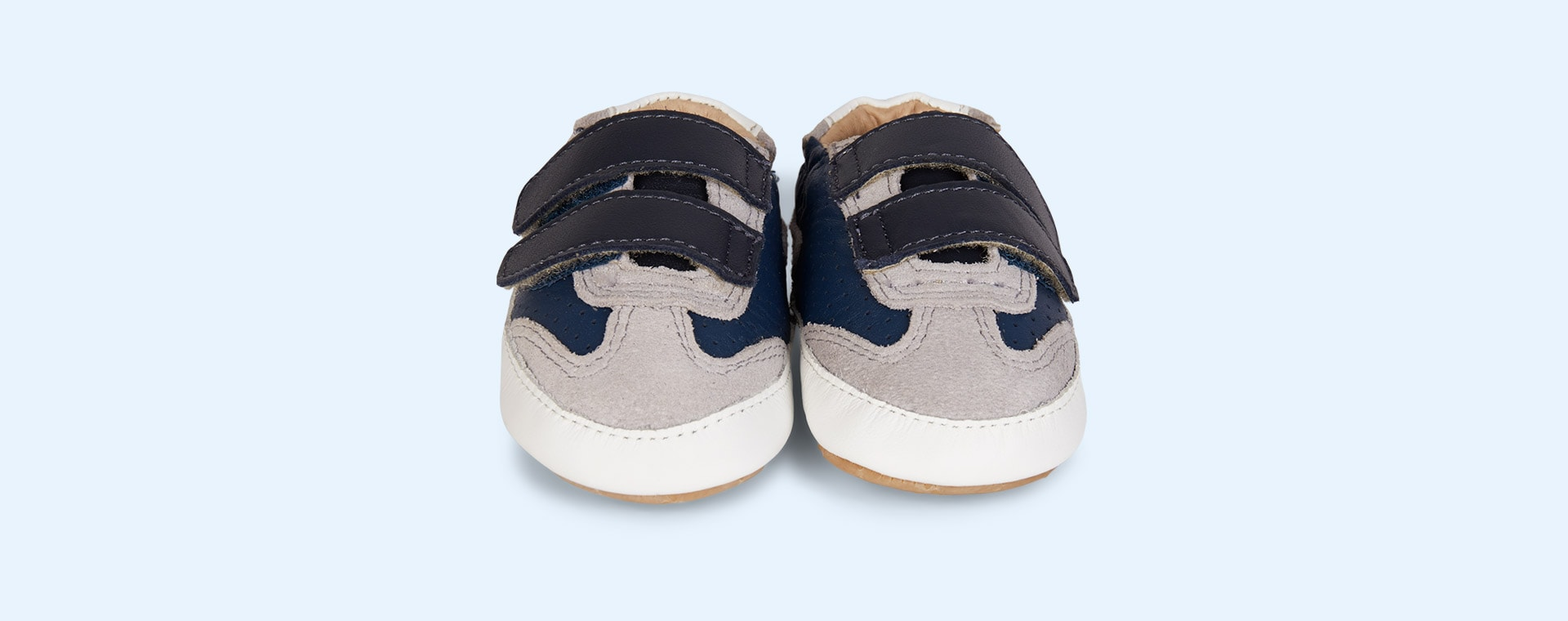 Navy old soles Revival Baby Soft sole shoe
