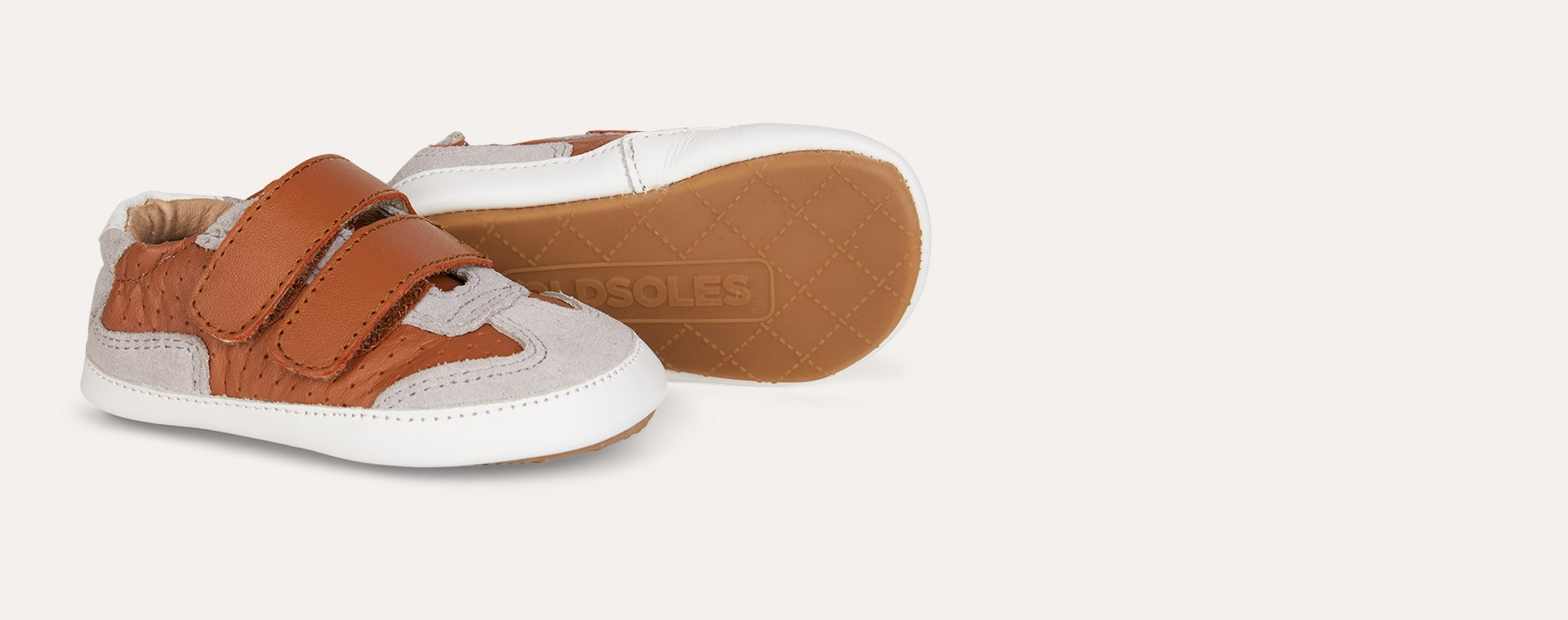 Tan old soles Revival Baby Soft sole shoe