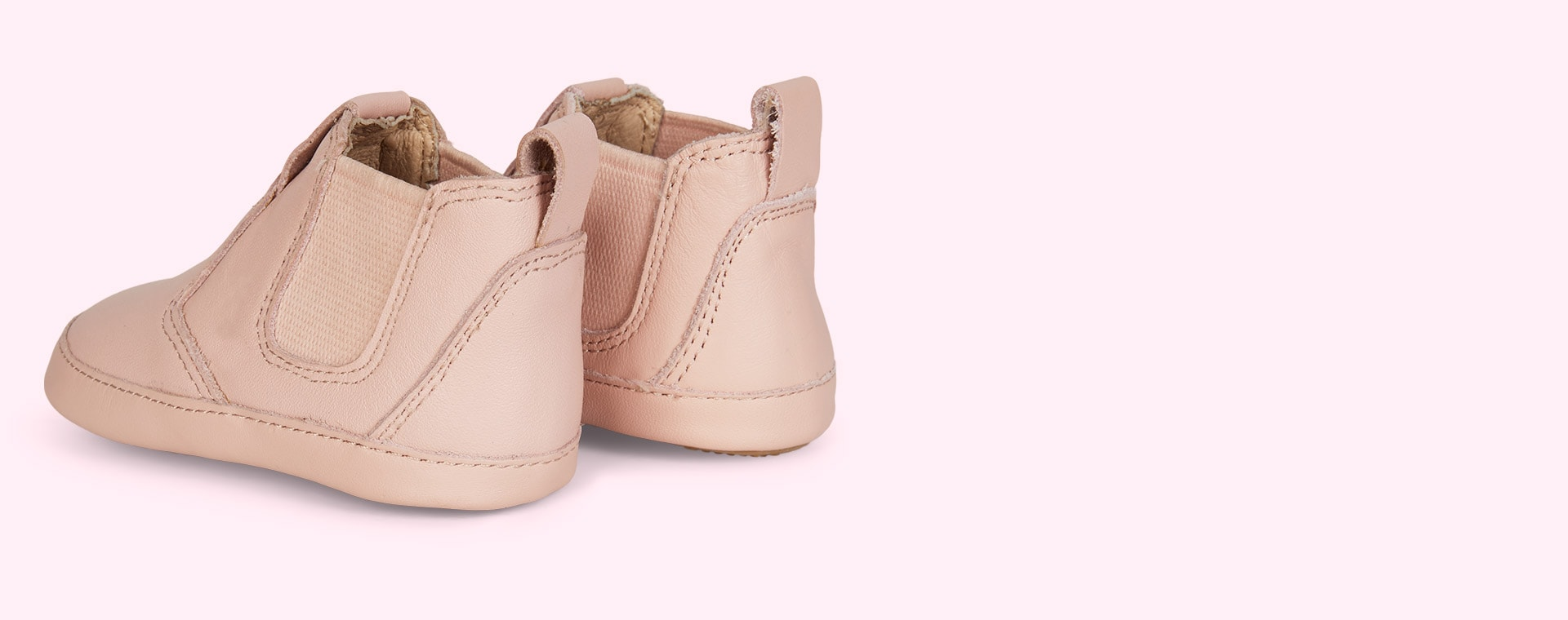Powder Pink old soles Bambini Local Soft sole Boot