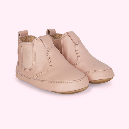 Powder Pink old soles AW'19 Bambini Local Soft sole Boot