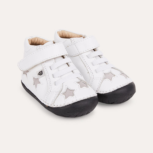 Snow / Grey Suede / Black Sole old soles Reach Pave First Shoe