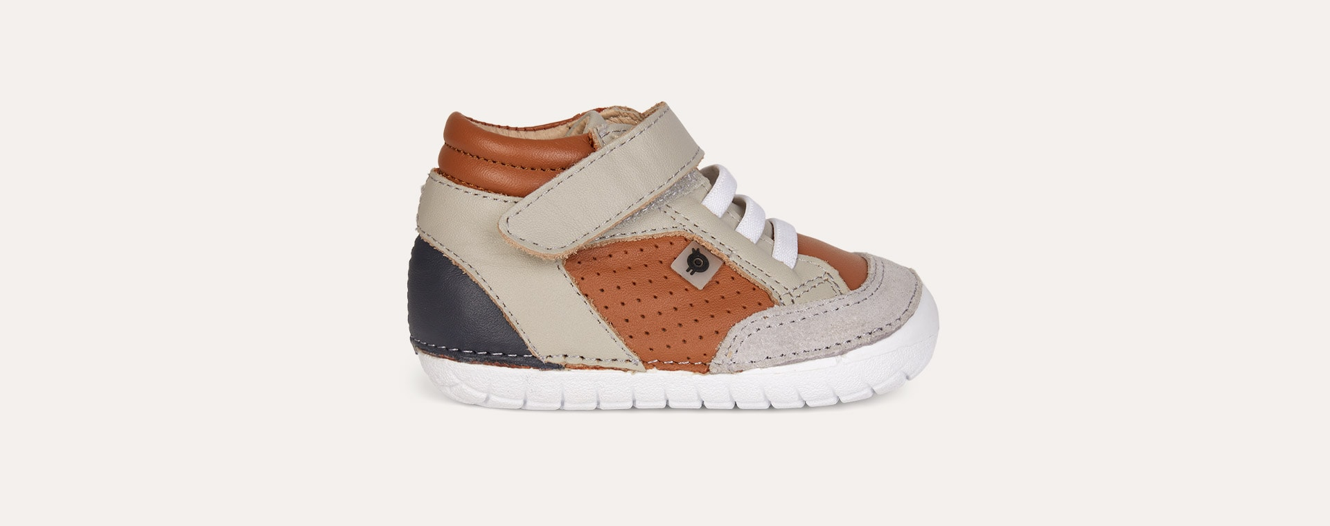 Tan Grey old soles AW'19 Retro Pave First High Shoe
