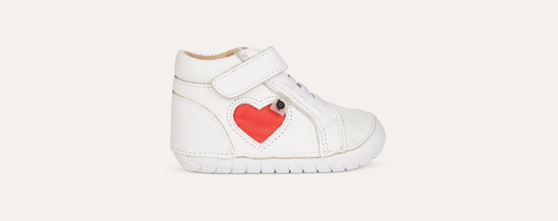 White old soles Heart Pave First High shoe