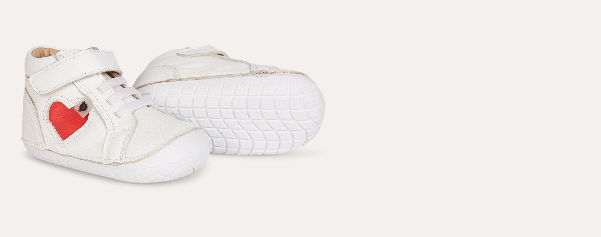 White old soles AW'19 Heart Pave First High shoe