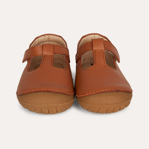 Tan old soles T-2 T-bar Shoe