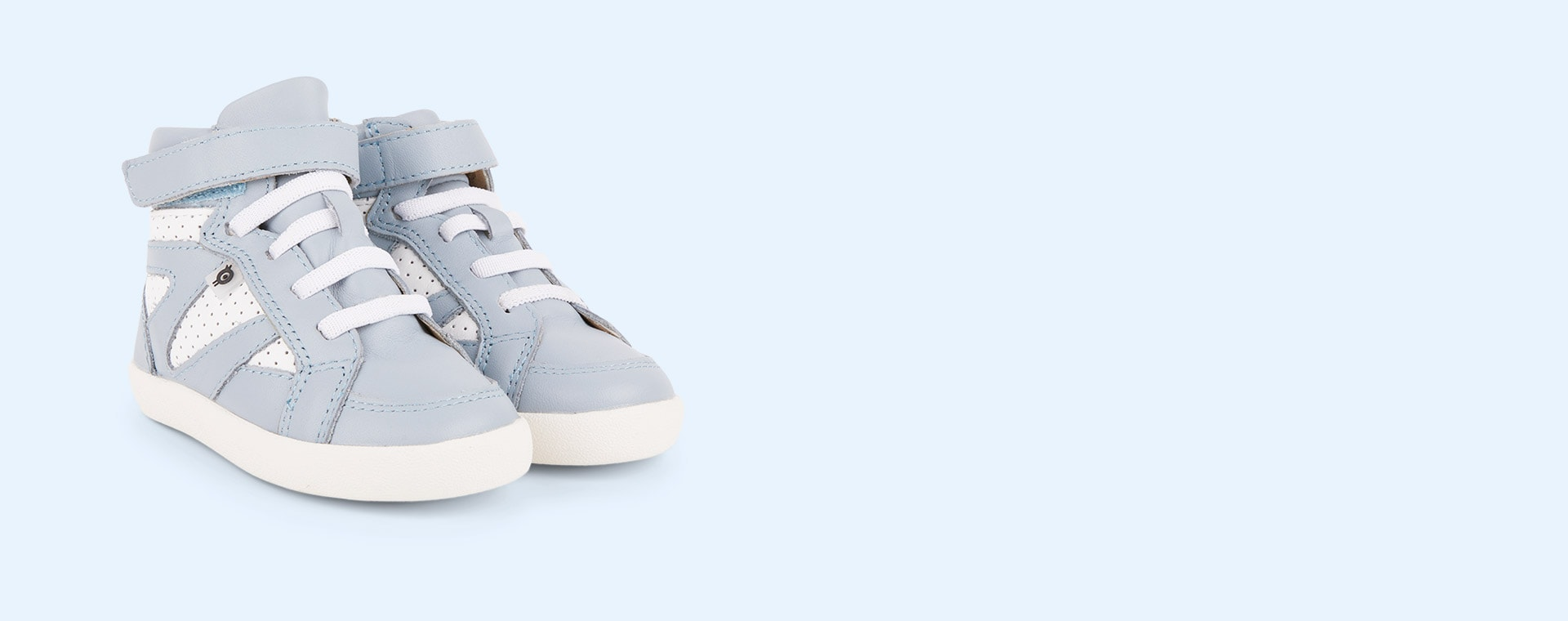 Dusty Blue/Snow old soles New Leader High Top Trainer