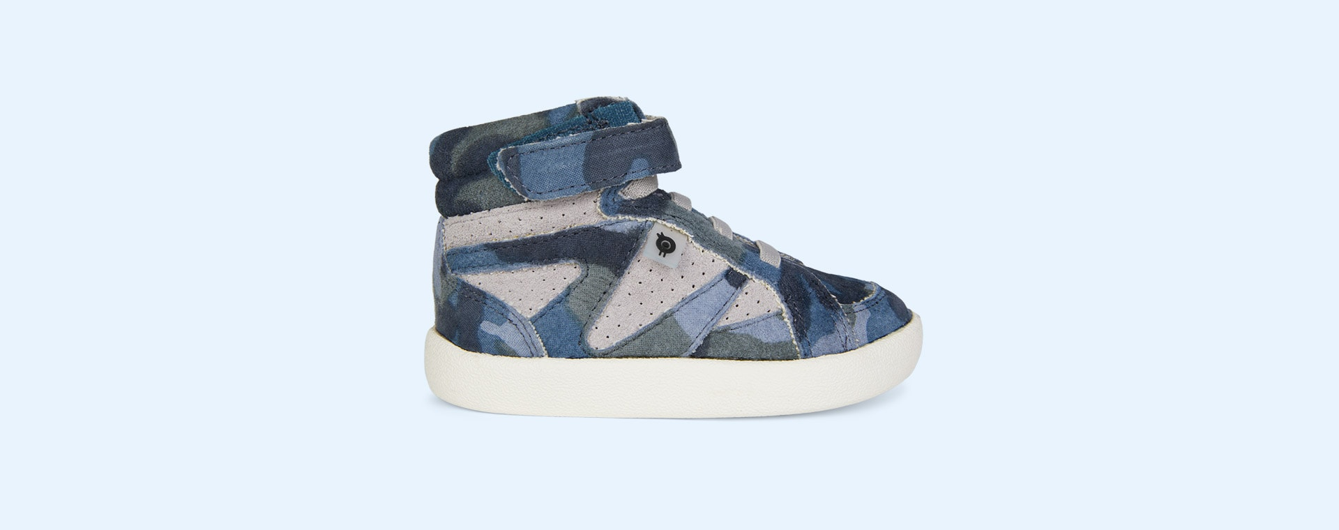 Marine Camo/Grey Suede old soles New Leader High Top Trainer