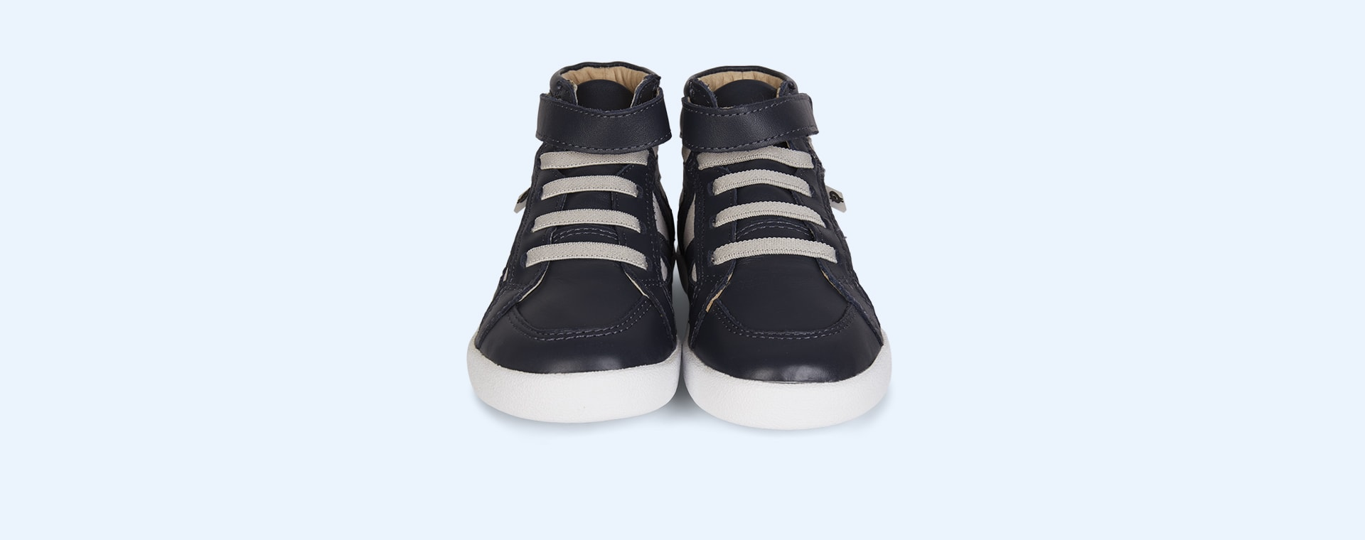 Navy Grey old soles AW'19 New Leader High Top Trainer