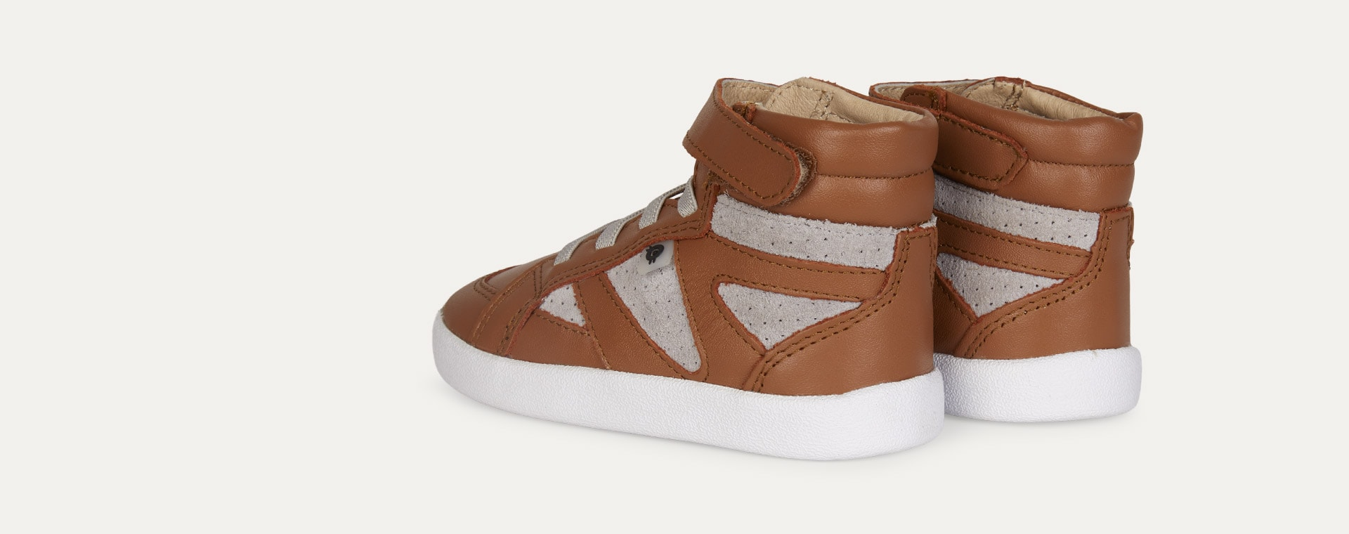 Tan Grey old soles AW'19 New Leader High Top Trainer