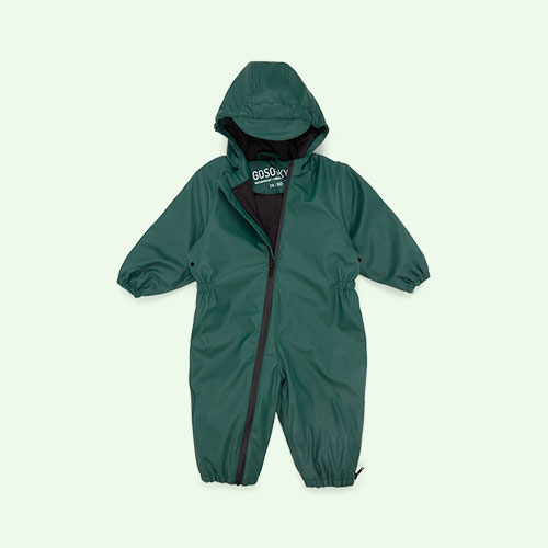 Hunter green GOSOAKY Roger Rabbit Waterproof Unisex Onesie