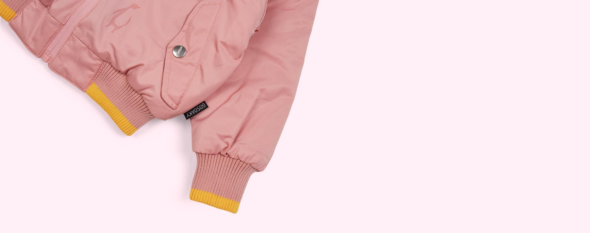 Powder/Yellow GOSOAKY The Grey Fox Puffer Jacket