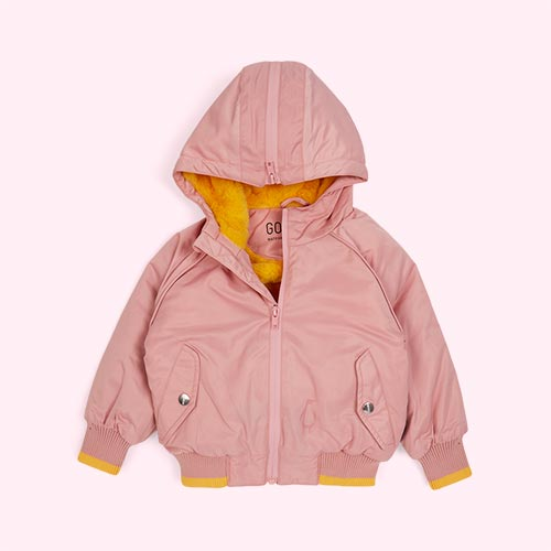 Powder/Yellow GOSOAKY The Grey Fox Puffer Jacket