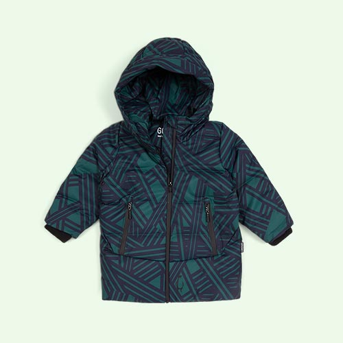 Hunter Green GOSOAKY Mega Shark Unisex Puffer Jacket