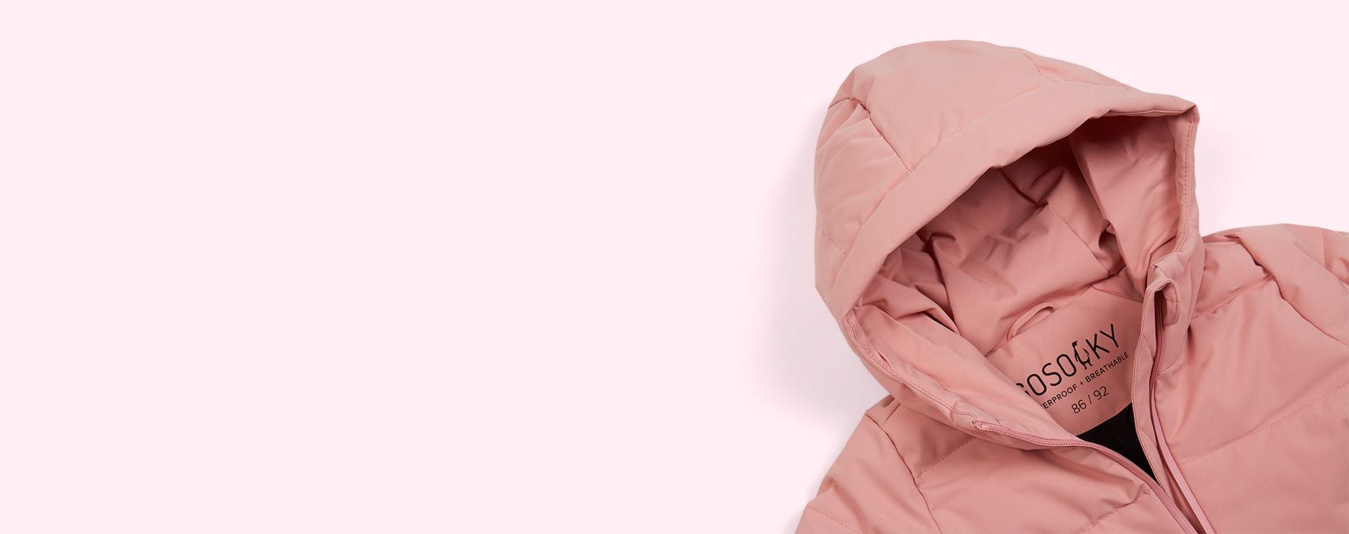 Powder Pink GOSOAKY Mega Shark Unisex Puffer Jacket