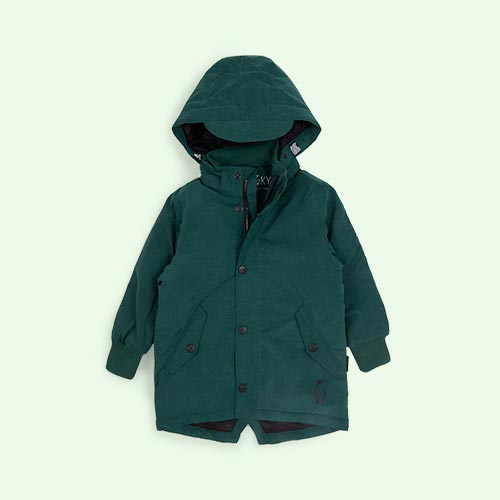 Hunter Green GOSOAKY Blue Tiger Padded Jacket