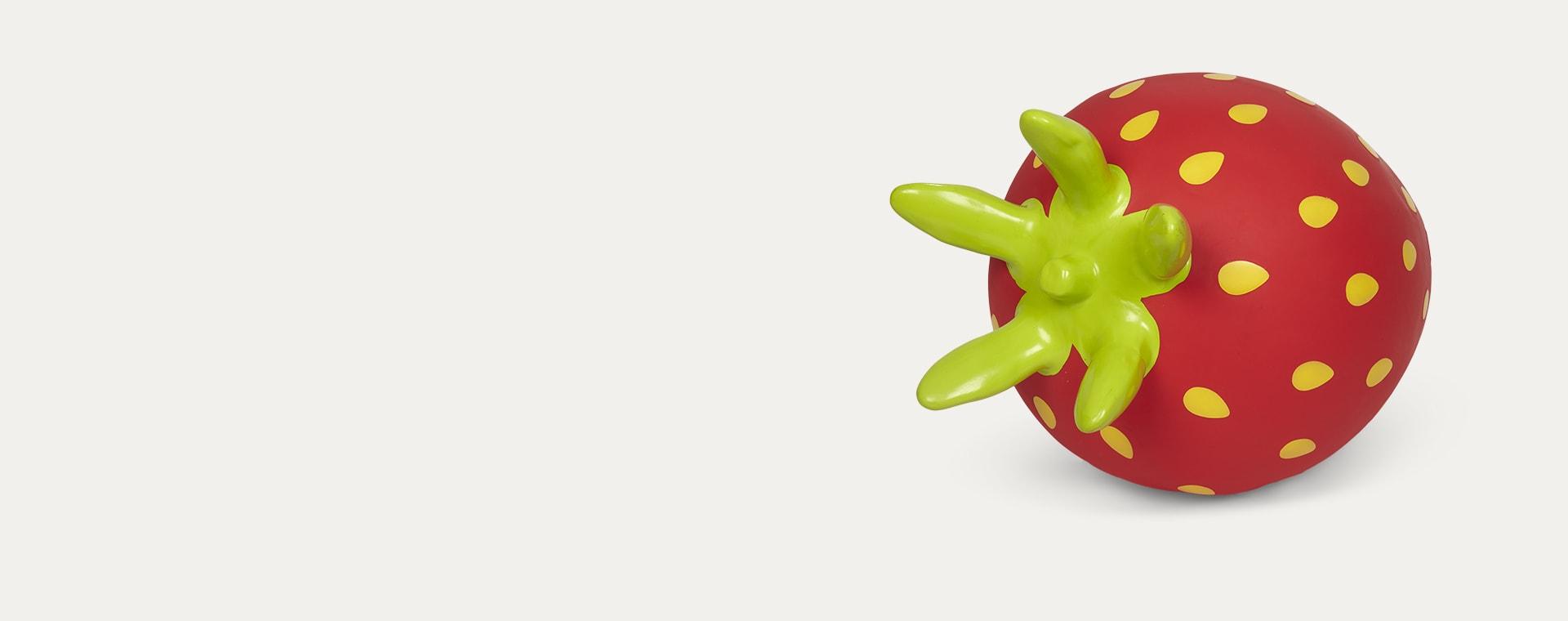 Red Gerardo's Toys Strawberry Jumpy Fruit