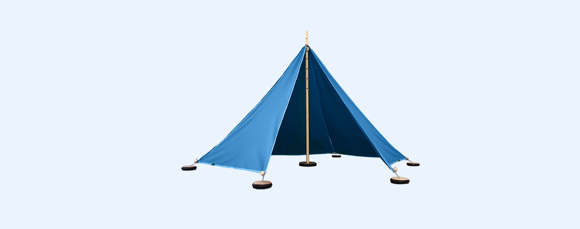 Blue abel Small Tent with Pegs & Weights